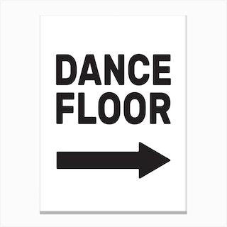 Dance Floor Canvas Print