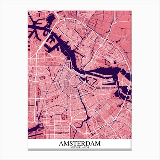 Amsterdam Pink Purple Canvas Print