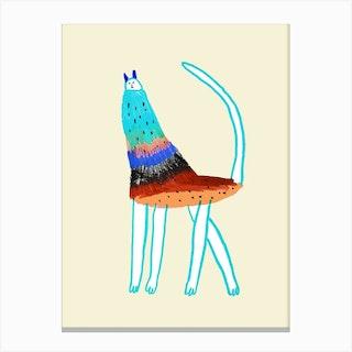 Cat Color Canvas Print
