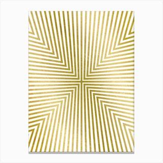 Converge Gold Canvas Print
