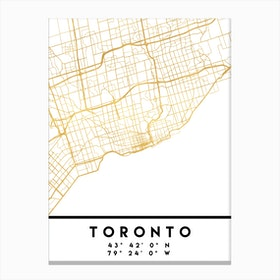 Toronto Canada City Street Map Canvas Print