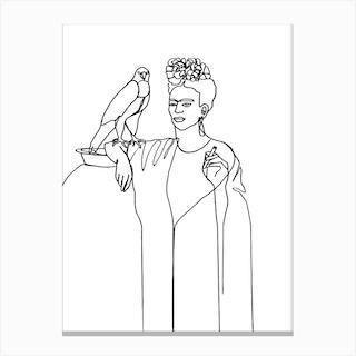 Frida And Falcon Canvas Print