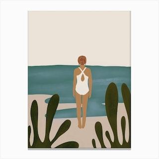 A Quick Dip Canvas Print