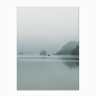 Fog Over The Lake Canvas Print
