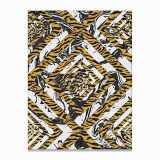 Wild Geometric Marble Canvas Print