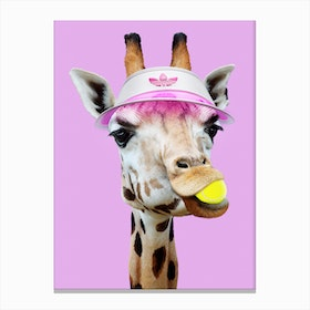 Tennis Giraffee Canvas Print