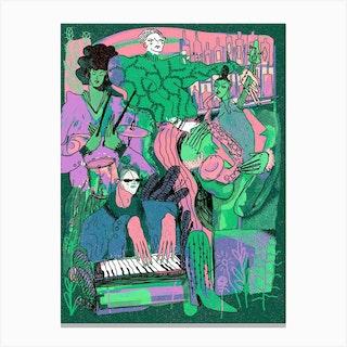 Quartet Pastel Canvas Print