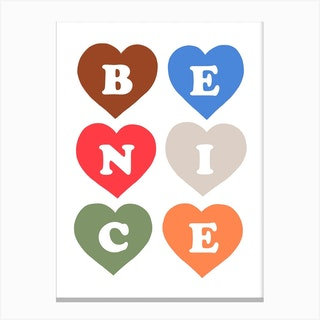 Be Nice In Modern Pop Canvas Print