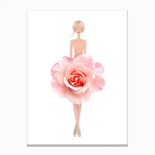 Fashion Pink Rose Canvas Print