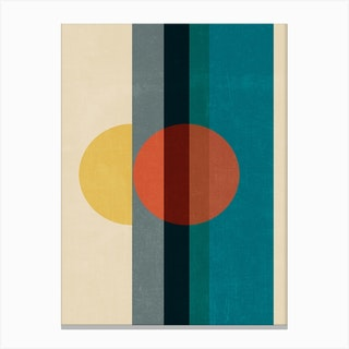 Mid Century Abstract Retros A Canvas Print