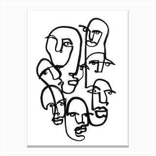 Face Merge 2 Canvas Print