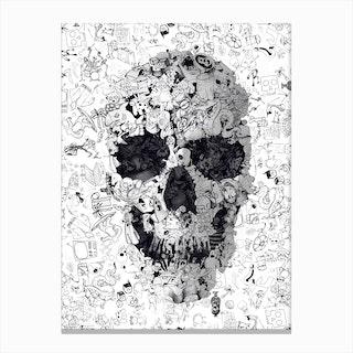 Doodle Skull Canvas Print