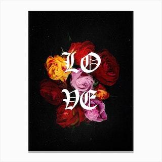 Flower Studies 14 Love Canvas Print
