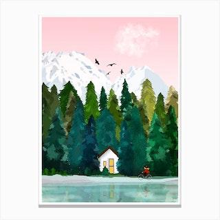 La Petite Cabane Canvas Print