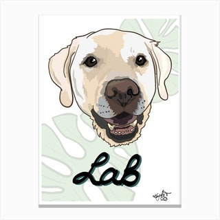 Golden Lab Dog Canvas Print