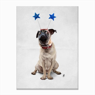 A Pug's Life (Wordless) Canvas Print