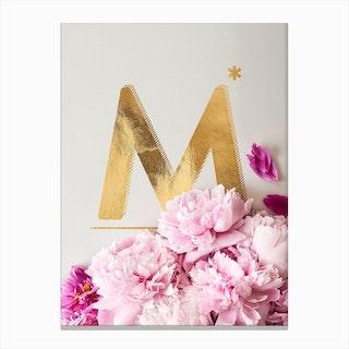 Flower Alphabet M Canvas Print