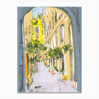Barcelona Arch Canvas Print