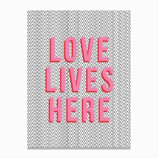 Love Lives Here Canvas Print