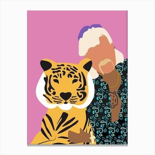 Joe Exotic Pink Tiger 1 Canvas Print