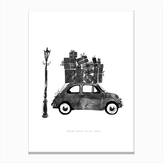 Le Chic Vintage Car Canvas Print