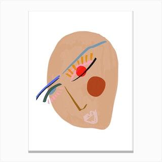 Abstract Face No 2 Canvas Print