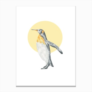 Watercolour Penguin Canvas Print