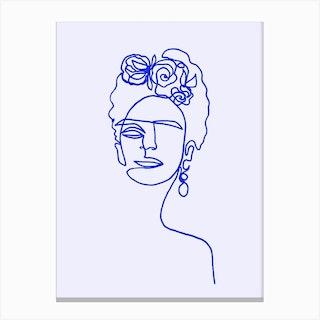 Frida Kahlo Blue Std Canvas Print