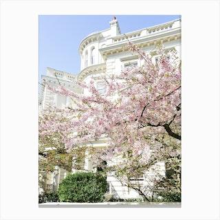 Pastel London Spring Canvas Print
