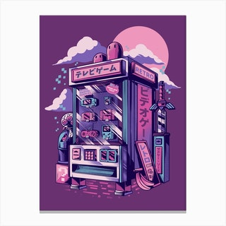 Retro Gaming Machine Canvas Print