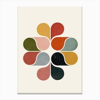 Geometric Flower Canvas Print