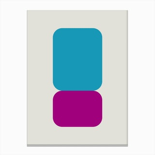 Emphatic Teal Purple Canvas Print