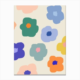 Sookie Floral Rainbow Canvas Print
