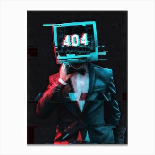 Error 404 Canvas Print