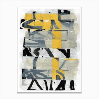 Black Yellow Two Canvas Print