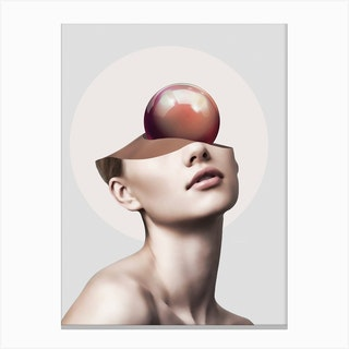 Beauty And The Sphere Canvas Print