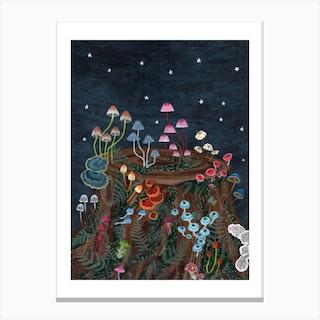 Mushroom Fireworks Canvas Print