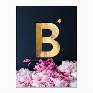 Flower Alphabet B Canvas Print