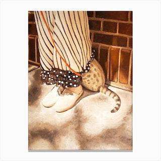 The Hidden Cat Canvas Print