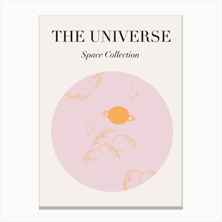 The Universe Pink Canvas Print