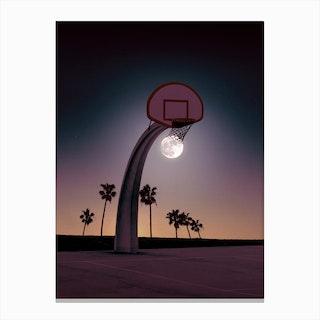 Basketmoon Canvas Print