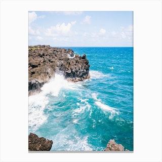 Hawaii Road Sea Canvas Print