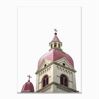 Pink Church Canvas Print