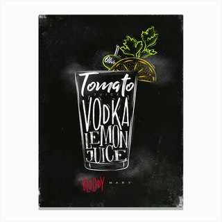 Bloody Mary Chalk Cocktail Canvas Print