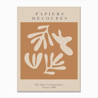 Papiers Decoupes   Neutrals   Musem Of Modern Art Canvas Print