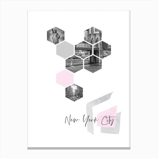 Urban Design New York City No 3 Pink Canvas Print