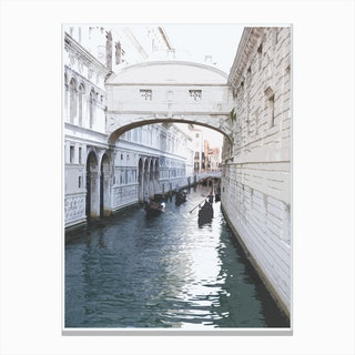 White Venice Canvas Print