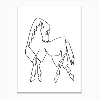 Horse Lines Std Canvas Print
