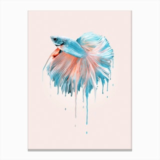 Melting Fish Canvas Print