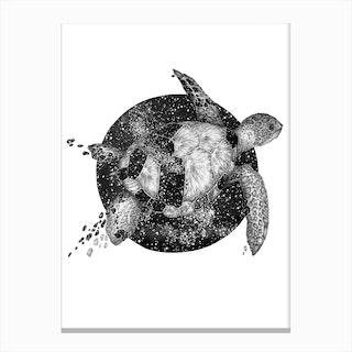 Cosmic Sea Turtle Canvas Print